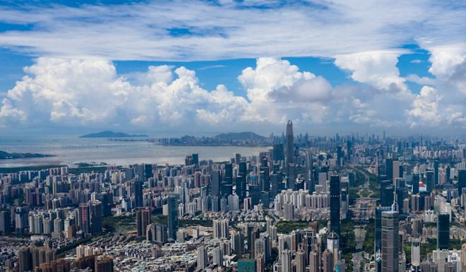 An aerial view of downtown Shenzhen. Photo: Xinhua