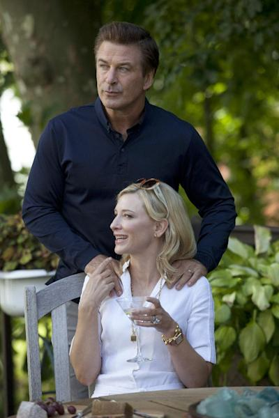 """In this publicity image released by Sony Pictures Classics shows Alec Baldwin and Cate Blanchett in a scene from """"Blue Jasmine."""" (AP Photo/Sony Pictures Classics)"""