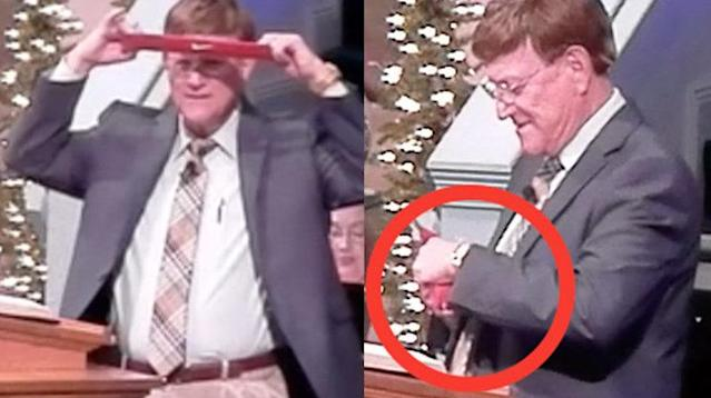 The senior pastor of a church in Alabama destroyed his own Nike gear during a