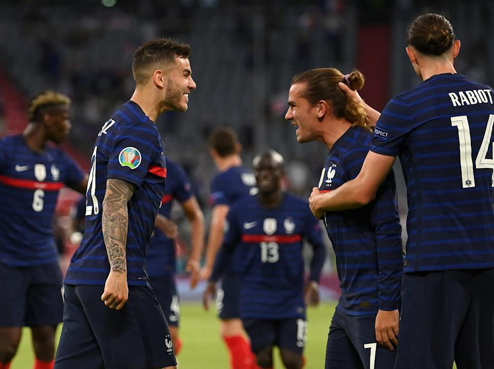 France celebrate their winner against Germany (Getty Images)