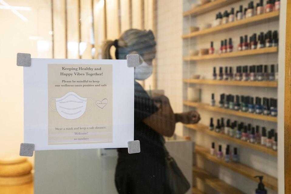 """<p>The new safety measures and regulations put out by the CDC and OSHA that nail salons have to compile to are extensive. Plastic shields have been put in place between the manicurists and customers, walk-in appointments have been suspended, there's more physical distance between stations, mandatory face masks are required to be worn by all employees and clients, employee temperature checks will occur regularly, and much more. Waivers and questionnaires will also likely be required of customers prior to their nail appointment which can be completed digitally.</p> <p>Hygiene is already a top priority for many beauty salons but it will be even more top-of-mind amid COVID-19. """"Our hygienic standards have always been at the highest bar possible, so that will continue, in addition to even more deep cleaning and constant wiping down of services between appointments with sanitizing wipes,"""" said Hong. The same goes for Chillhouse: """"Our facility is properly cleaned, sanitized, disinfected before the start, in-between every single client, and at the closing of each day using only hospital grade disinfectants and we are strictly following the local state health departments procedures."""" said Kourtesis. </p> <p>At Paintbox, lookbooks are a signature part of the experience, but that has also had to change. """"Our lookbooks are [now] takeaway postcards and our product displays are only touched by our coordinators and artists,"""" said Hong. </p> <p>Some nail technicians are also undergoing additional training to ensure they're up to date with all of the latest safety protocols. """"All our nail artists, Chill Hosts, and service providers are all <a href=""""https://barbicide.com/"""" class=""""link rapid-noclick-resp"""" rel=""""nofollow noopener"""" target=""""_blank"""" data-ylk=""""slk:Barbicide certified"""">Barbicide certified</a>,"""" said Kourtesis. This is an online educational course for members of the salon, spa, and barbershop industry.</p>"""
