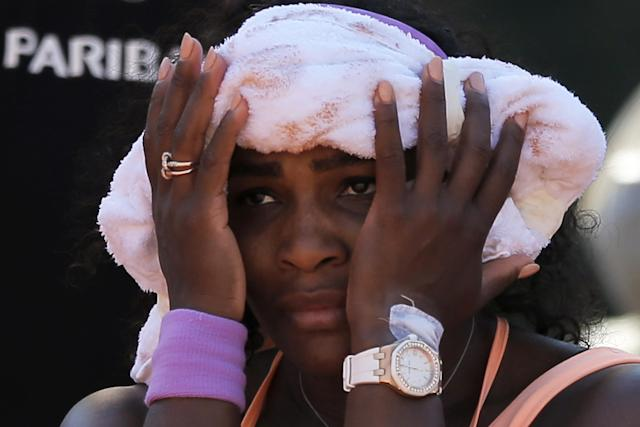 Serena Williams suffered, health-wise, throughout the 2015 French Open, but managed to win it. (AP Photo/Francois Mori)