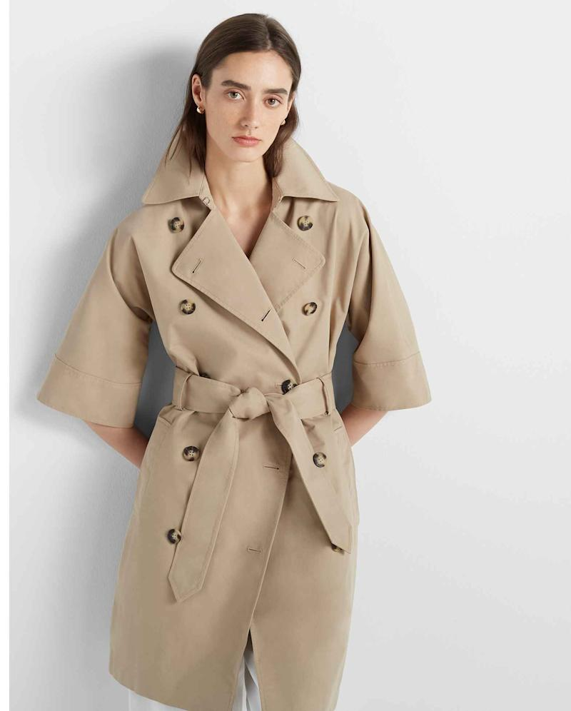 Meghan Markle wore Club Monaco's Reissue Trench for a date night with Prince Harry and pals, David Foster and Katherine McPhee.