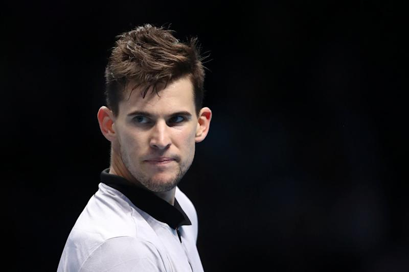 Struggles: Dominic Thiem: Getty Images
