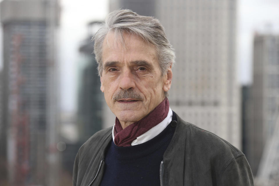 Actor Jeremy Irons poses for photographers at the photo call for the film 'Red Sparrow' in London, Tuesday, Feb. 20, 2018. (Photo by Joel C Ryan/Invision/AP)