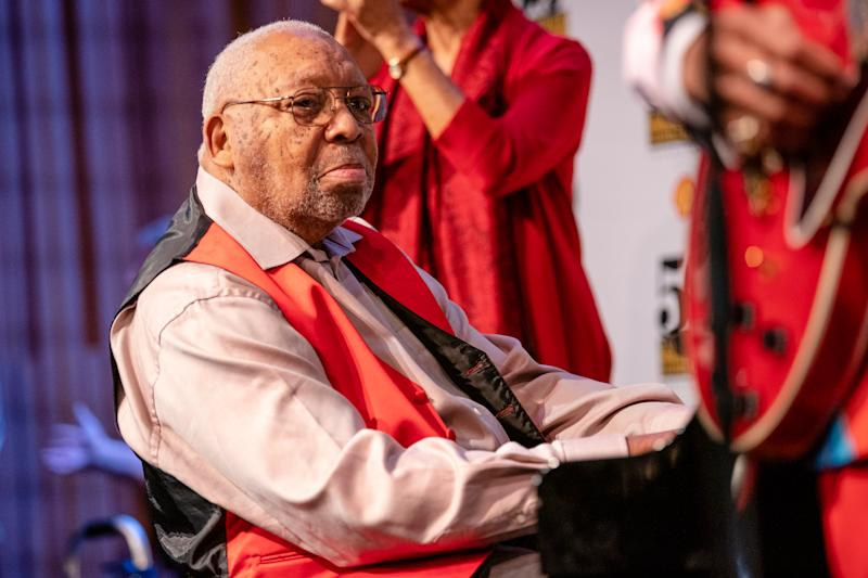 NEW ORLEANS, LOUISIANA - JANUARY 15: Ellis Marsalis Jr. performs at the New Orleans Jazz & Heritage Festival press conference at George and Joyce Wein Jazz & Heritage Center on January 15, 2019 in New Orleans, Louisiana. (Photo by Josh Brasted/Getty Images)