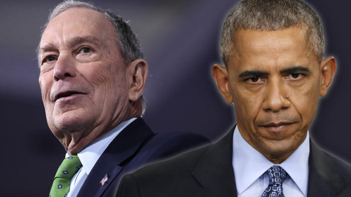 Bloomberg and former President Barack Obama. (Photo illustration: Yahoo News: photos: James H. Wallace/Richmond Times-Dispatch via AP, AP)