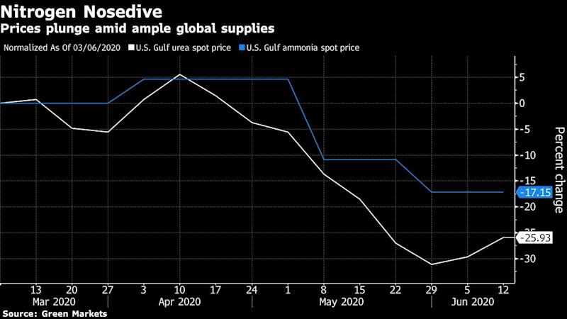 Fertilizer Plunge May Be a Sign U.S. Farmers Planting Less Corn