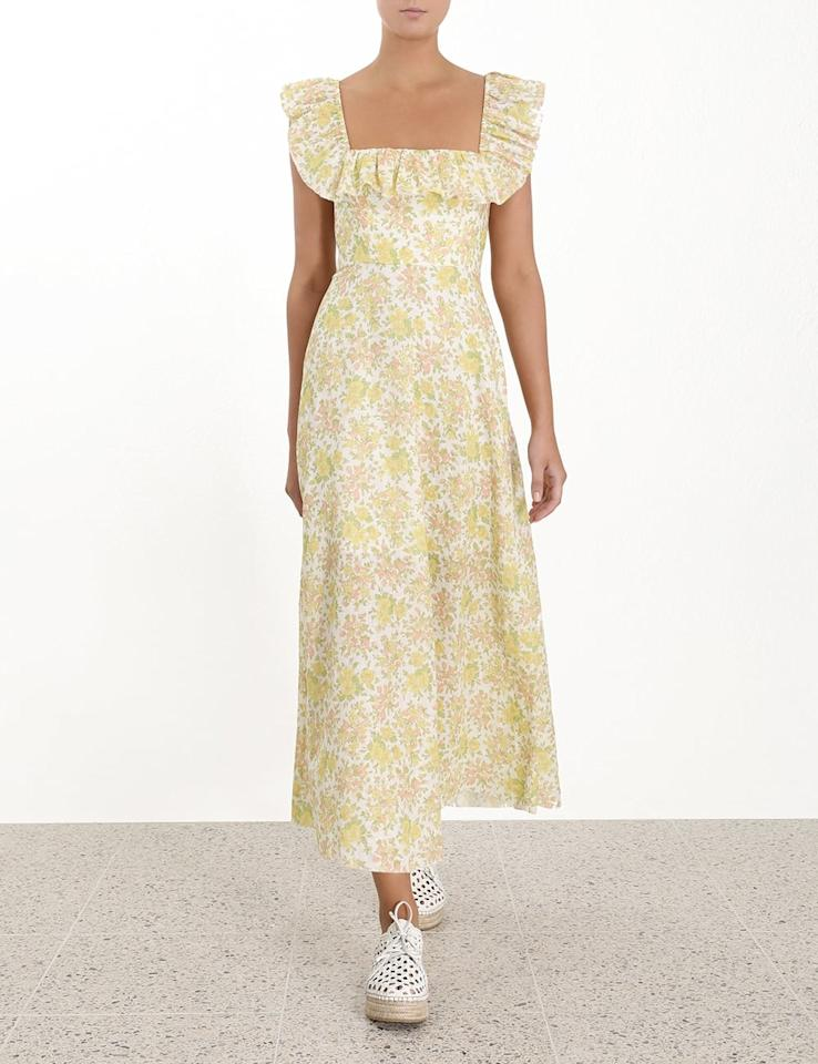 """<p>""""Say what you want, but Summer isn't over yet, and I'm leaning way into it with this dreamy <a href=""""https://www.popsugar.com/buy/Zimmermann%20Goldie%20Ruffle%20Neck%20Long%20Dress-474033?p_name=Zimmermann%20Goldie%20Ruffle%20Neck%20Long%20Dress&retailer=zimmermannwear.com&pid=474033&price=590&evar1=fab%3Aus&evar9=46438805&evar98=https%3A%2F%2Fwww.popsugar.com%2Ffashion%2Fphoto-gallery%2F46438805%2Fimage%2F46440493%2FGoldie-Ruffle-Neck-Long-Dress&list1=shopping%2Cmust%20haves%2Ceditors%20pick%2Csummer%2Czimmermann%2Csummer%20fashion&prop13=api&pdata=1"""" rel=""""nofollow"""" data-shoppable-link=""""1"""" target=""""_blank"""" class=""""ga-track"""" data-ga-category=""""Related"""" data-ga-label=""""https://www.zimmermannwear.com/us/new-arrivals/goldie-ruffle-neck-long-dress-citrus-floral.html"""" data-ga-action=""""In-Line Links"""">Zimmermann Goldie Ruffle Neck Long Dress</a> ($590). The sweet print feels slightly nostalgic, and the feminine details will look perfect dressed up with sandals or dressed down with sneakers."""" - Hannah Weil McKinley, Content Director, Fashion and Shop</p>"""