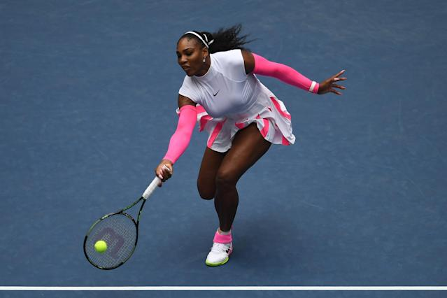 Some fans aren't pleased with the size range offered in Serena Williams's new fashion line. (Photo: Getty Images)