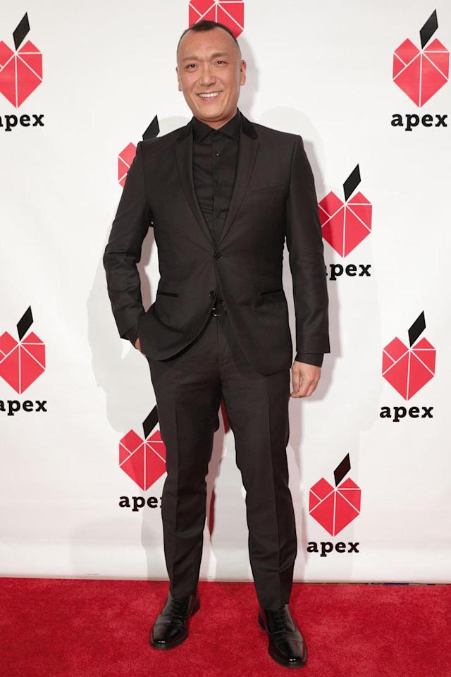 <p>Joe Zee, former Yahoo Style editor-in-chief, wore an all-black look for the 26th annual Apex for Youth gala. (Photo: BFA/Courtesy of Apex for Youth) </p>