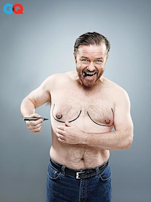 Ricky Gervais in the June Comedy Issue of GQ.