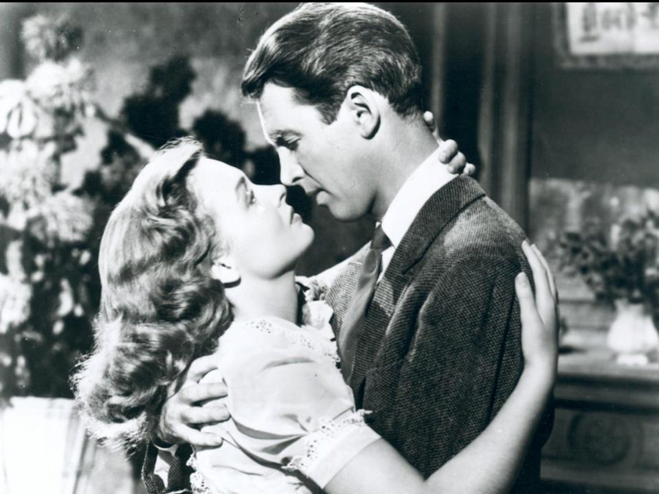 <p>Donna Reed and James Stewart in 'It's a Wonderful Life'</p> (Moviestore/Shutterstock)