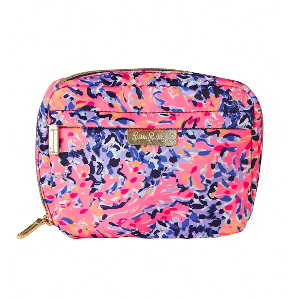 "<p>$48 | <a rel=""nofollow"" href='https://www.lillypulitzer.com/product/9711.uts?swatchName=Multi+Coco+Coral+Crab+Accessories+Small'>Lilly Pulitzer</a></p>"