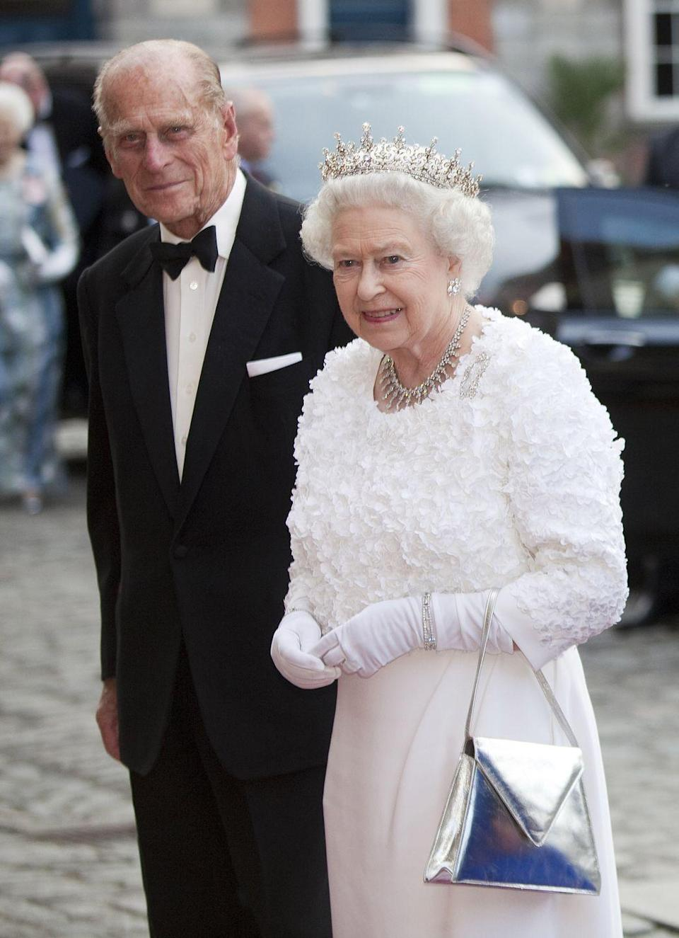 """<p><strong>When did he quit? </strong>1947</p><p><strong>Why did he quit? </strong>In order to <a href=""""https://www.cosmopolitan.com/uk/reports/a36074056/queen-elizabeth-prince-philip-relationship-timeline/"""" rel=""""nofollow noopener"""" target=""""_blank"""" data-ylk=""""slk:marry the then-Princess Elizabeth"""" class=""""link rapid-noclick-resp"""">marry the then-Princess Elizabeth</a>, (who as we know became the Queen of England), <a href=""""https://www.cosmopolitan.com/uk/reports/a37392690/prince-philip-joked-100-years/"""" rel=""""nofollow noopener"""" target=""""_blank"""" data-ylk=""""slk:Prince Philip"""" class=""""link rapid-noclick-resp"""">Prince Philip</a> had to renounce his Danish and Greek royal titles. By doing so, he became a naturalised British subject and took on his maternal grandparents' last name, Mountbatten.  </p>"""