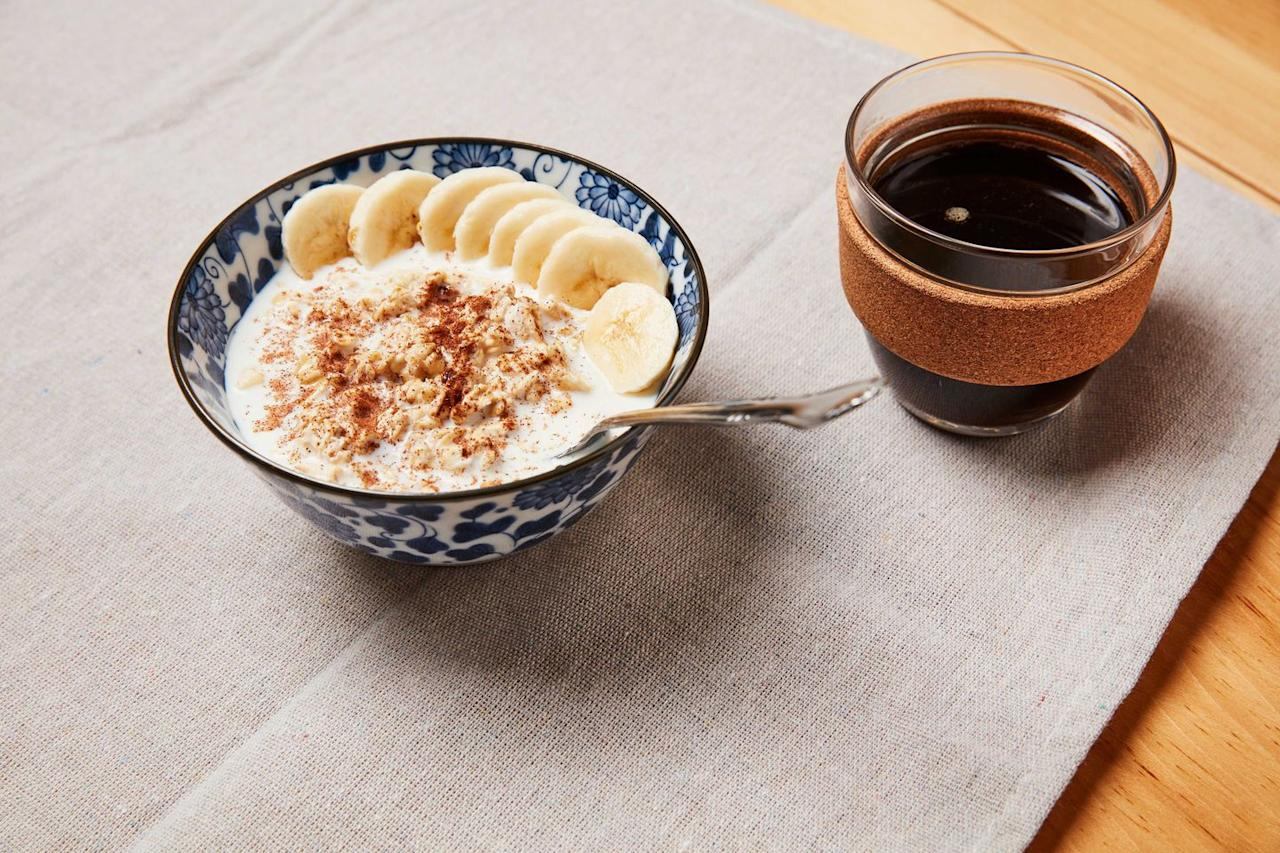 """<p>""""<a href=""""https://www.runnersworld.com/training/a27125520/working-out-on-an-empty-stomach/"""" target=""""_blank"""">Food-wise</a> I need my oatmeal, but I'll also <a href=""""https://www.runnersworld.com/runners-stories/a22497585/colleen-quigley-meaning-behind-braids/"""" target=""""_blank"""">braid</a> my hair and do a little makeup. Helps me feel good on the start line!""""—<strong><em><a href=""""https://www.instagram.com/hello_madss/"""" target=""""_blank"""">hello_madss</a></em></strong></p><p>""""The <a href=""""https://www.runnersworld.com/news/a31038097/eat-breakfast-to-burn-more-calories-study/"""" target=""""_blank"""">breakfast</a> of champions: Dino egg oatmeal! Aaaaaaand a poop.""""—<em><strong><em><a href=""""https://www.instagram.com/miramila/"""" target=""""_blank"""">miramila</a></em></strong></em><br><em><strong></strong></em><br>""""Challah bread French toast!""""—<strong><em><em><a href=""""https://www.instagram.com/gatorblue11/"""" target=""""_blank"""">gatorblue11</a></em></em></strong></p><p>""""Bagel with PB&J, and a healthy bowel movement.""""—<strong><em><a href=""""https://www.instagram.com/craiggajewski/"""" target=""""_blank"""">craiggajewski</a></em></strong></p><p> """"Oatmeal, black coffee, banana. Write my mantra on my hand. Stay f******g positive.""""—<em><strong><a href=""""https://www.instagram.com/petiguana/"""" target=""""_blank"""">petiguana</a></strong></em><strong><em><br></em></strong><em><strong></strong></em><br>""""Eat oatmeal, bagel, banana, and coffee.""""—<em><strong><em><a href=""""https://www.instagram.com/frenchvanilla_clayton/"""" target=""""_blank"""">frenchvanilla_clayton</a></em></strong></em></p><p>Steelcut oats, fruit, nut butter, black coffee...and 💩and 🙏.""""—<em><strong><em><strong><em><a href=""""https://www.instagram.com/gelybeen73/"""" target=""""_blank"""">gelybeen73</a> </em></strong></em></strong></em><em><strong> </strong></em><br><em><strong></strong></em><br>""""Eat a bowl of oatmeal with toppings! """"—<strong><em></em></strong><strong><em><em><strong><a href=""""https://www.instagram.com/ana.erob.c/"""" target=""""_blank"""">ana.erob.c</a> </strong></em></em><"""