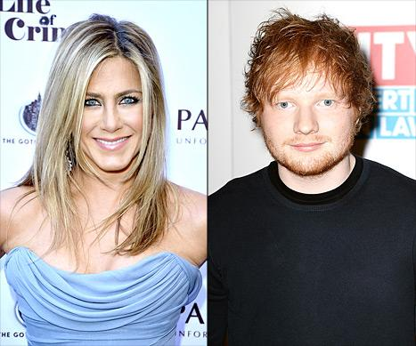 Jennifer Aniston Celebrated Thanksgiving With Ed Sheeran