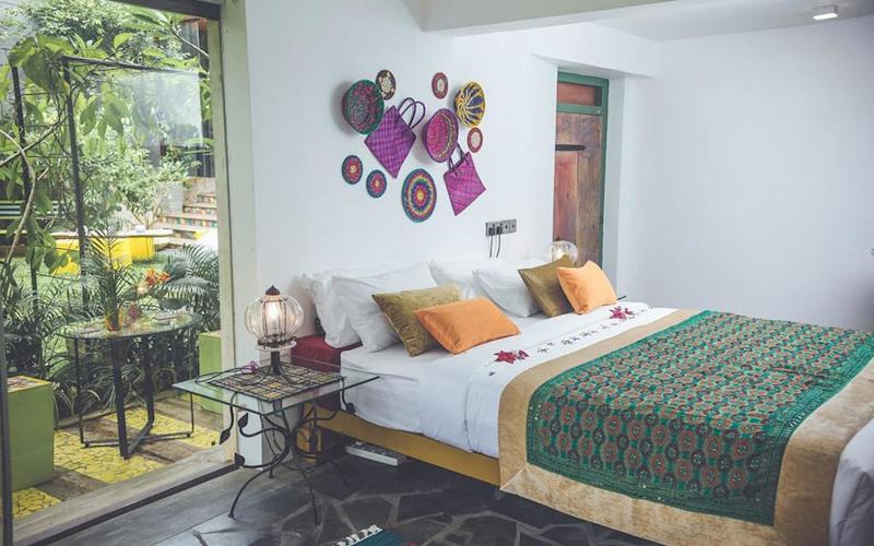 Budget doesn't mean boring – take the outstanding Aathma Colombo House, where interiors are bright and bold