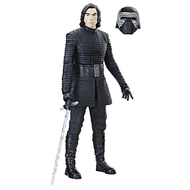 "<p>""Step over to the Dark Side with the 12-Inch Interactech Kylo Ren figure that responds to how you play! This dark warrior features more than 65 light and sound effects, bringing Kylo Ren to life right in front of your eyes."" $29.99 (Photo: Hasbro) </p>"