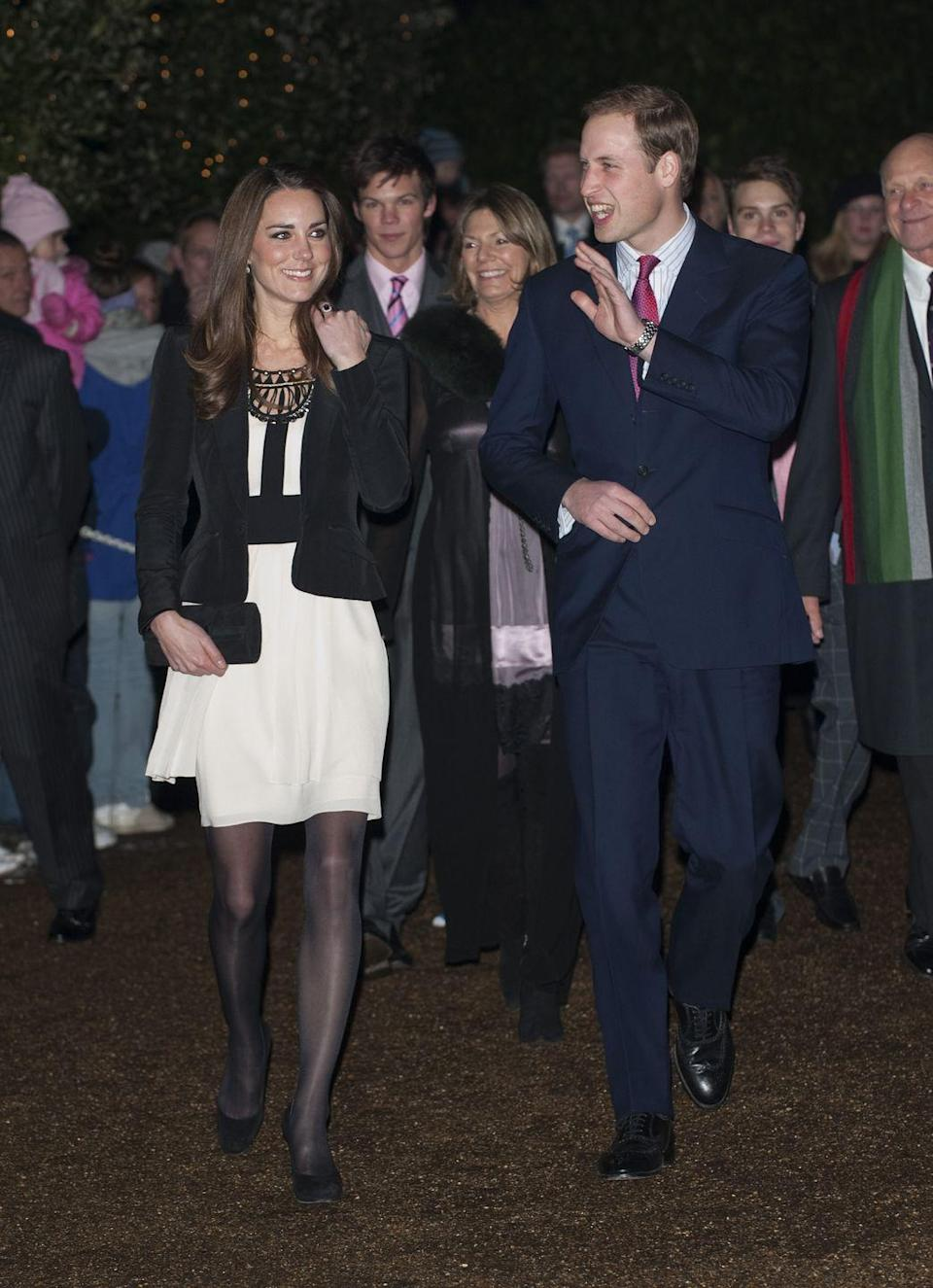 <p>Arriving alongside Prince William at a Christmas Spectacular charity event at the Thursford Collection in Norfolk.<br></p>
