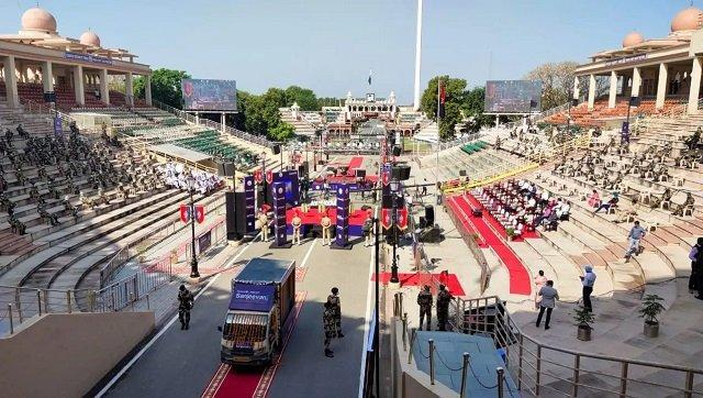 The initiative was launched on Wednesday at an event attended by actor Sonu Sood and BSF DG Rakesh Asthana at the Attari border in Punjab, amid the salutation ceremony by the jawans in the background. Image Credits: News18