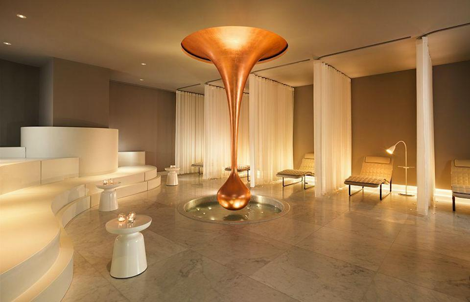 """<p>One of the most beautiful spa hotels in London, Agua London at <a href=""""https://go.redirectingat.com?id=127X1599956&url=https%3A%2F%2Fwww.booking.com%2Fhotel%2Fgb%2Fsea-containers-london.en-gb.html%3Faid%3D1922306%26label%3Dspa-hotels-london&sref=https%3A%2F%2Fwww.goodhousekeeping.com%2Fuk%2Flifestyle%2Ftravel%2Fg37472138%2Fspa-hotel-london%2F"""" rel=""""nofollow noopener"""" target=""""_blank"""" data-ylk=""""slk:Sea Containers London"""" class=""""link rapid-noclick-resp"""">Sea Containers London</a> is a playground for lovers of indulgence. The focus here is on spirituality, wellbeing and the mind-body connection, which are integrated into all treatments. A multi-sensory sanctuary, with personalised treatments and an original selection of skincare.</p><p>The spa's Hedgerow by Agua products consist of six core ingredients: lemon balm, rosemary, St John's wort, peppermint, comfrey and marigold. Used in therapeutic treatments, such as massages and manicures, they offer benefits to both the mind and body such, helping to improve circulation, increase antioxidant activity and reducing anxiety for a complete spa experience.</p><p><a class=""""link rapid-noclick-resp"""" href=""""https://go.redirectingat.com?id=127X1599956&url=https%3A%2F%2Fwww.booking.com%2Fhotel%2Fgb%2Fsea-containers-london.en-gb.html%3Faid%3D1922306%26label%3Dspa-hotels-london&sref=https%3A%2F%2Fwww.goodhousekeeping.com%2Fuk%2Flifestyle%2Ftravel%2Fg37472138%2Fspa-hotel-london%2F"""" rel=""""nofollow noopener"""" target=""""_blank"""" data-ylk=""""slk:CHECK AVAILABILITY"""">CHECK AVAILABILITY</a></p>"""