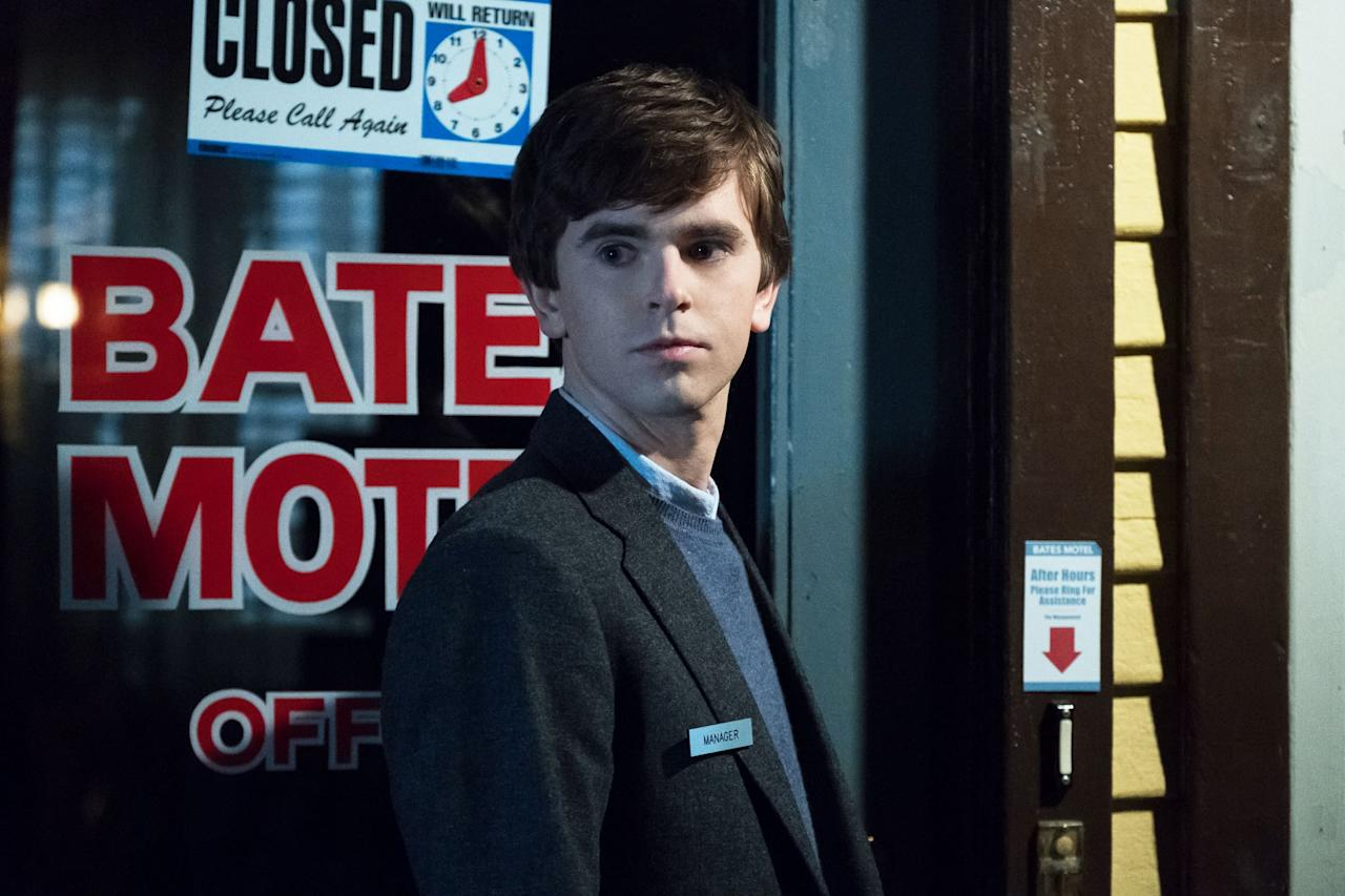 <p><strong>Bates Motel</strong> ended in 2017 after five seasons, but it will always rank in the horror hall of fame thanks to Freddie Highmore and Vera Farmiga's tense performances as a son and mother with a beyond-troubled relationship. The story builds upon the mythology laid out in Alfred Hitchcock's <strong>Psycho</strong>, not always successfully, but always memorably.</p> <p><strong>Scare factor:</strong> 😱 😱</p>