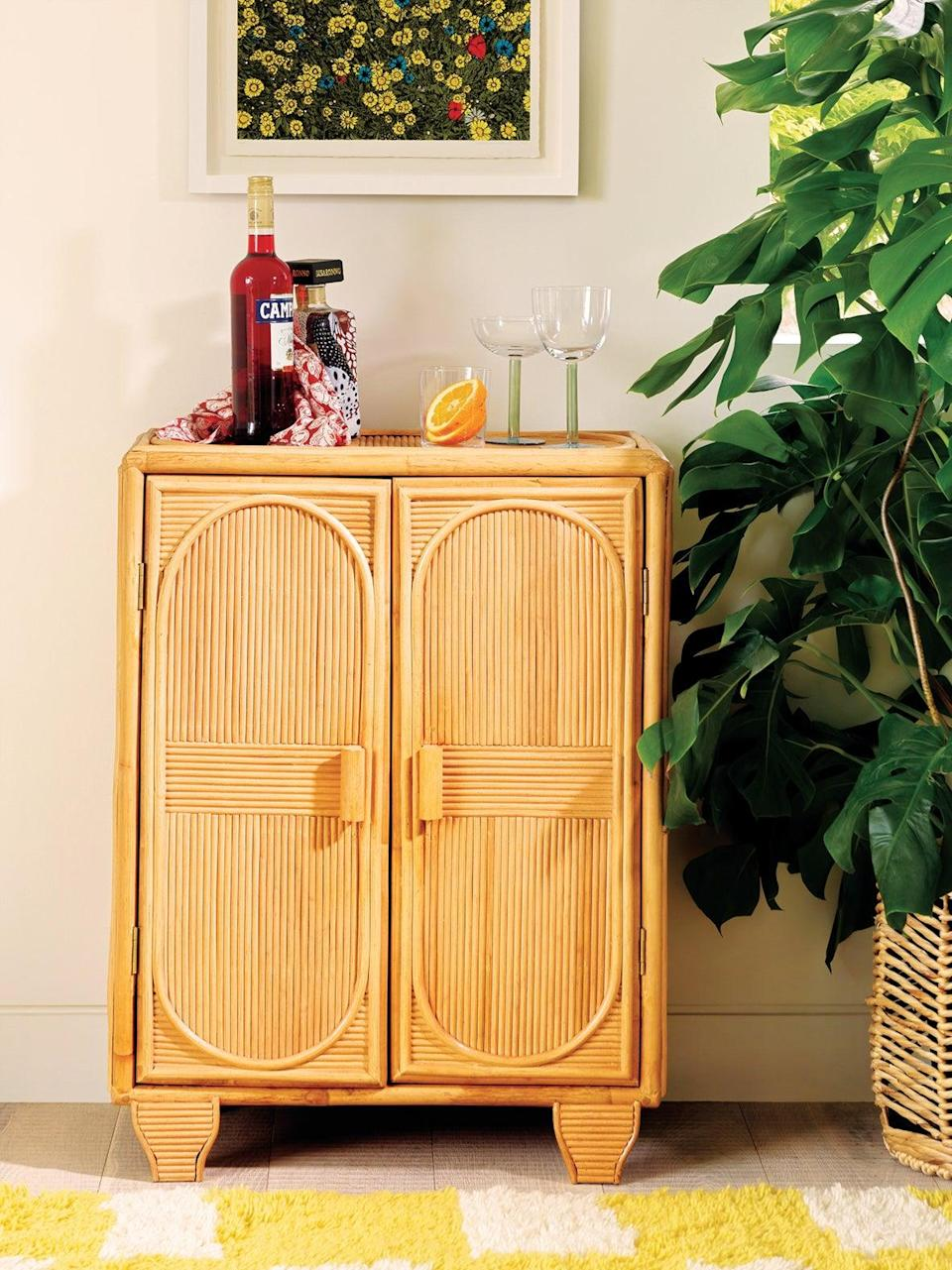 This cabinet will really come into its own at cocktail hour. <br><br><strong>Shrimps for Habitat</strong> Redford rattan cabinet, £195