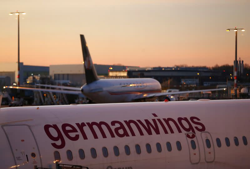 Airbus A319 aircraft of German airline Germanwings is pictured at the Cologne-Bonn airport