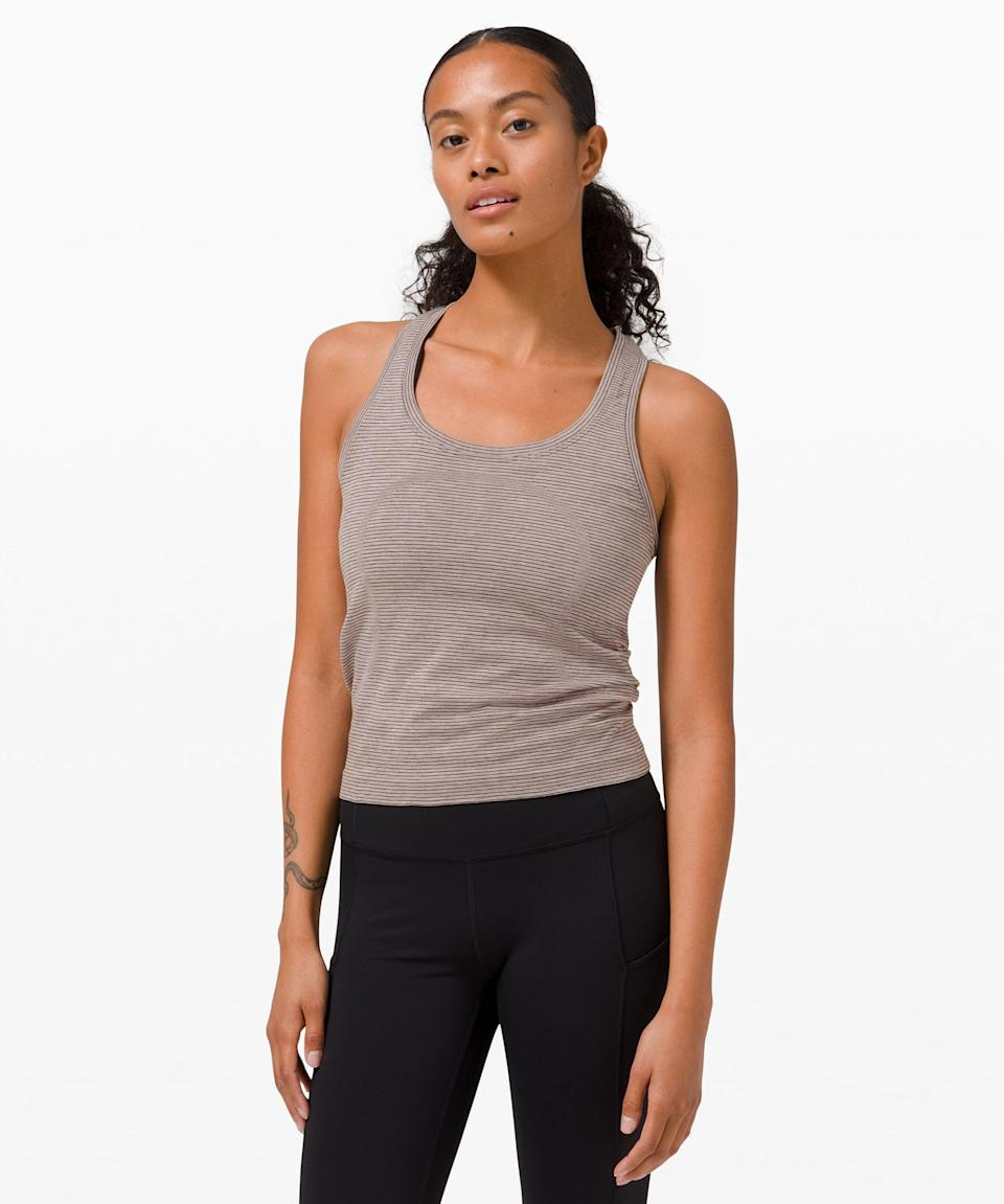 <p>You can't go wrong with this <span>Lululemon Swiftly Tech Racerback 2.0</span> ($39, originally $58).</p>
