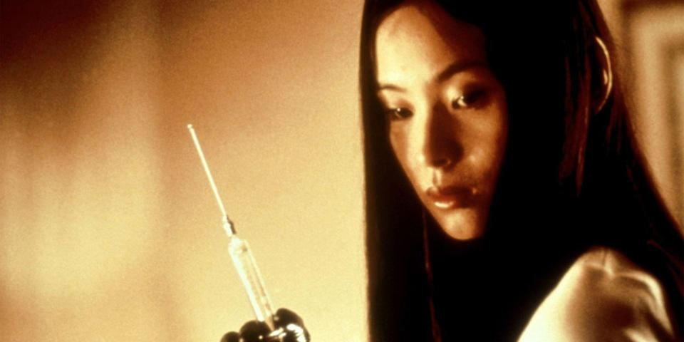 """<p>Don't let the first two-thirds of Japanese master of horror Takashi Miike's <em>Audition </em>fool you; the blood-curdling horror is coming. The film begins with a sort of regular joe's <em>Bachelor</em>: A widower agrees to choose a potential wife from a lineup of women at a pseudo movie. As the narrative progresses, the audience—and our bachelor—are enlightened to just who the lucky lady really is. <a class=""""link rapid-noclick-resp"""" href=""""https://www.amazon.com/gp/video/detail/B003HIC564/ref=atv_dl_rdr?tag=syn-yahoo-20&ascsubtag=%5Bartid%7C10056.g.10247453%5Bsrc%7Cyahoo-us"""" rel=""""nofollow noopener"""" target=""""_blank"""" data-ylk=""""slk:Watch Now"""">Watch Now</a></p>"""