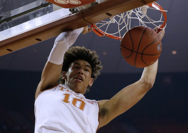 Less than two years ago, Jaxson Hayes couldn't crack the starting lineup at his high school. Now, he's a potential lottery pick in the 2019 NBA draft. (Getty Images)