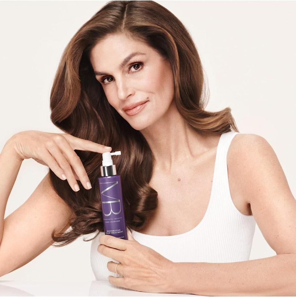 """<p>Cindy Crawford is legendary for so many reasons, not the least of which is being an early entrant in the celebrity beauty brand race. Meaningful Beauty was launched way back in 2005, and we can still remember the supermodel talking about a seemingly magical melon extract with cosmetic surgeon Jean-Louis Sebagh in the brand's infomercials. The products have gained a huge following in the years since its launch — <em>clearly</em>, if it has stuck around this long — and the skin-centric line has recently expanded into hair care. </p> <p><strong>Star product:</strong> """"Lightweight and flexible, the <a href=""""https://shop-links.co/1747586989776572943"""" rel=""""nofollow noopener"""" target=""""_blank"""" data-ylk=""""slk:Revive & Brighten Eye Masque"""" class=""""link rapid-noclick-resp"""">Revive & Brighten Eye Masque</a> patches ($52) adhere nicely, almost like a second skin, and provide an instant cooling effect that feels just plain lovely,"""" says <em>Allure</em> contributor Rebecca Dancer. And <a href=""""https://www.allure.com/story/cindy-crawford-meaningful-beauty-revive-brighten-eye-masque-undereye-patches?mbid=synd_yahoo_rss"""" rel=""""nofollow noopener"""" target=""""_blank"""" data-ylk=""""slk:rumor has it"""" class=""""link rapid-noclick-resp"""">rumor has it</a> Crawford herself likes using them elsewhere on her face, like between the brows and on smile lines. </p>"""