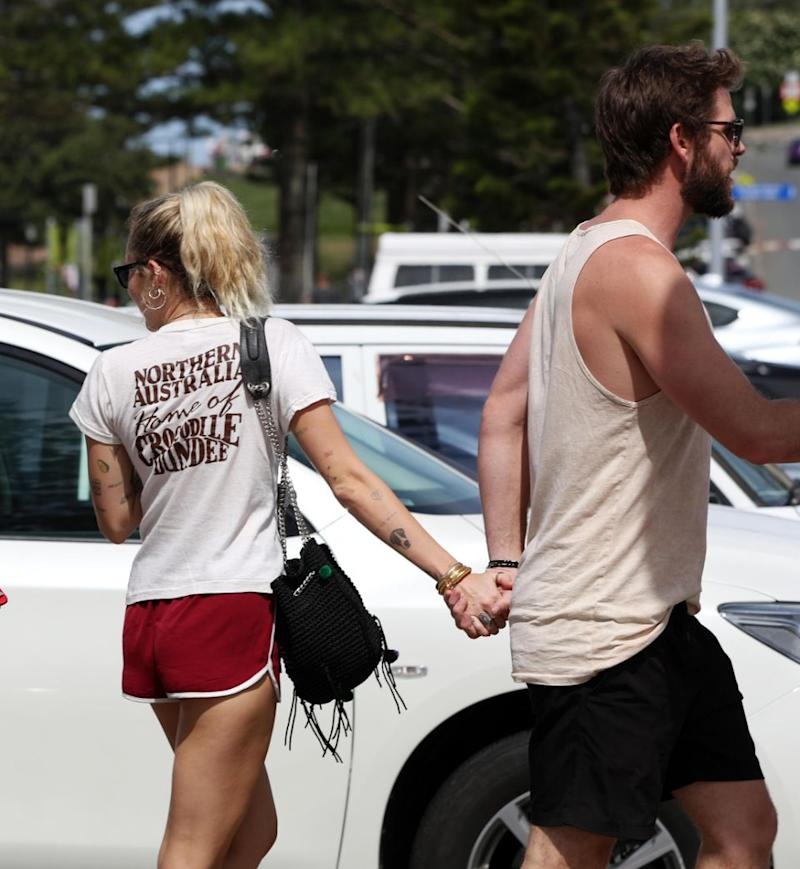 There's no denying they look super loved-up right now, being spotted strolling hand-in-hand. Source: Getty