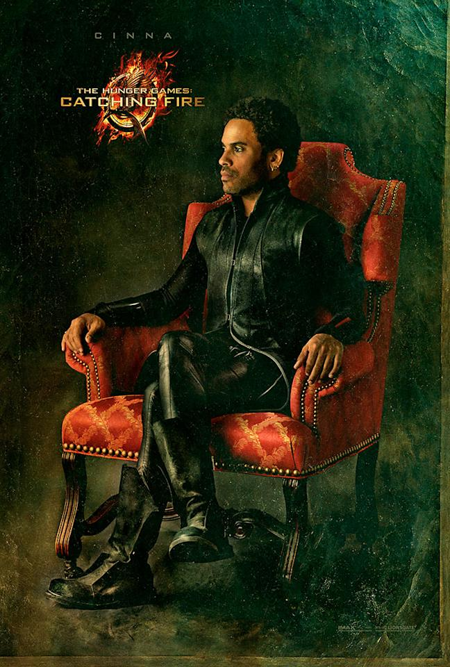 """Lenny Kravitz as Cinna in the final Capitol Portrait for """"The Hunger Games: Catching Fire"""" - 2013"""