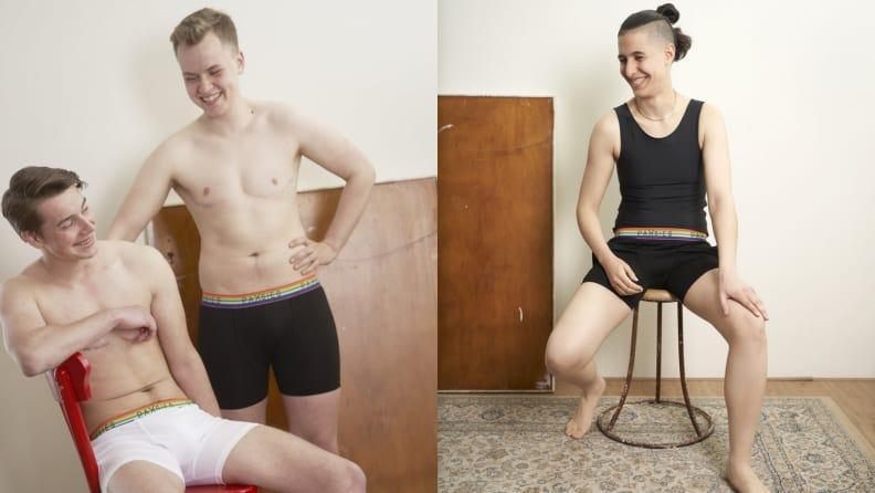 This underwear brand includes chest binders, boxers, and packers.