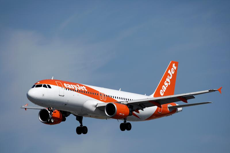 An Airbus A320-200 aircraft, operated by EasyJet, lands at Orly Airport near Paris, France, September 6, 2019. REUTERS/Benoit Tessier