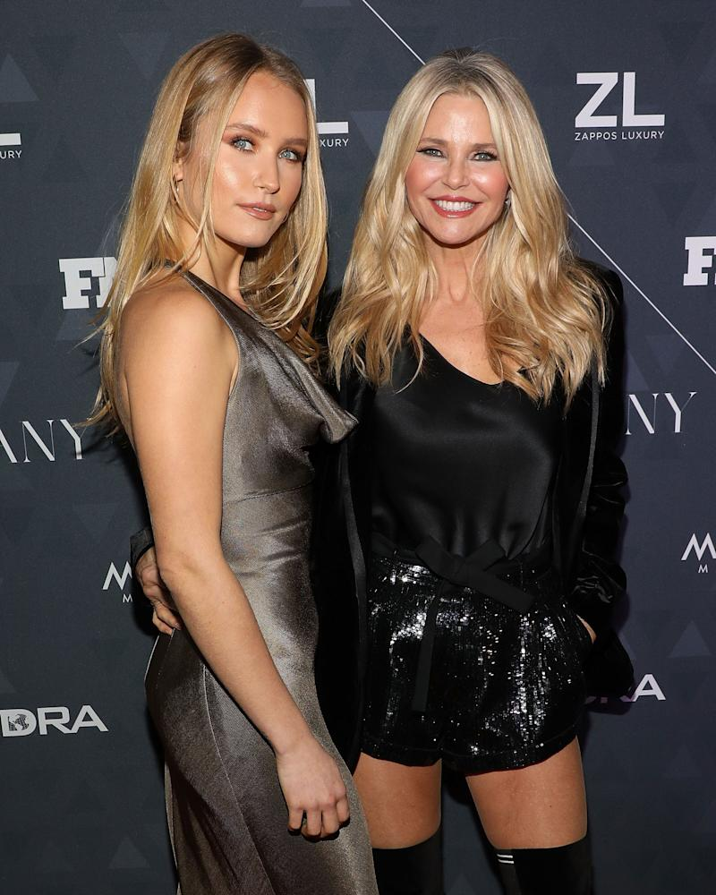 Sailor Brinkley Cook, left, and Christie Brinkley in 2018. (Photo: Taylor Hill via Getty Images)