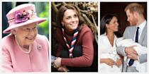 <p>From the birth of Prince Harry and Meghan Markle's son Archie Harrison, to Princess Beatrice's engagement, and Princess Charlotte's first day of school, 2019 has been eventful for the British royal family. Read on for a look back at their most iconic moments captured on film this year.</p>