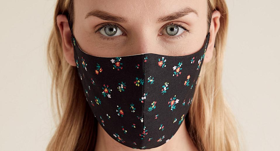Marks and Spencer has launched new trendy reusable face masks amid the coronavirus pandemic. (Getty Images)
