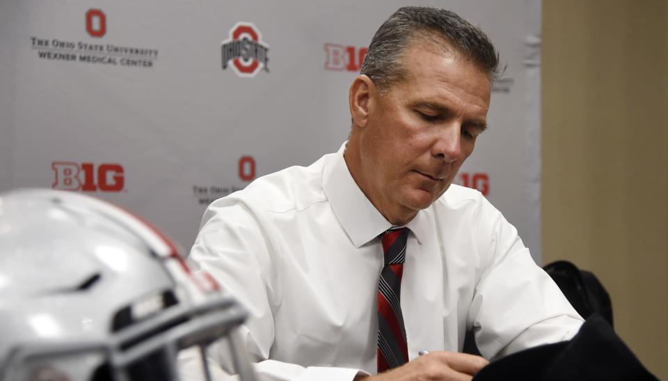 While Urban Meyer is out on administrative leave during an investigation, Ohio State's community waits in limbo. (AP)