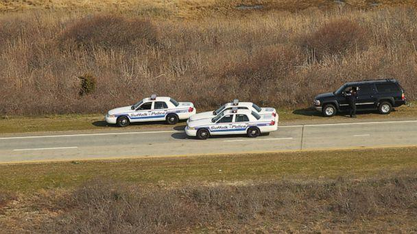PHOTO: An aerial view of police cars near where a body was discovered in the area near Gilgo Beach and Ocean Parkway on Long Island, April 15, 2011, in Wantagh, New York. (Spencer Platt/Getty Images, FILE)