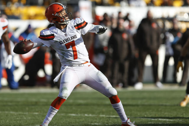 Quarterback DeShone Kizer is on the move from the Browns to the Packers. (AP)