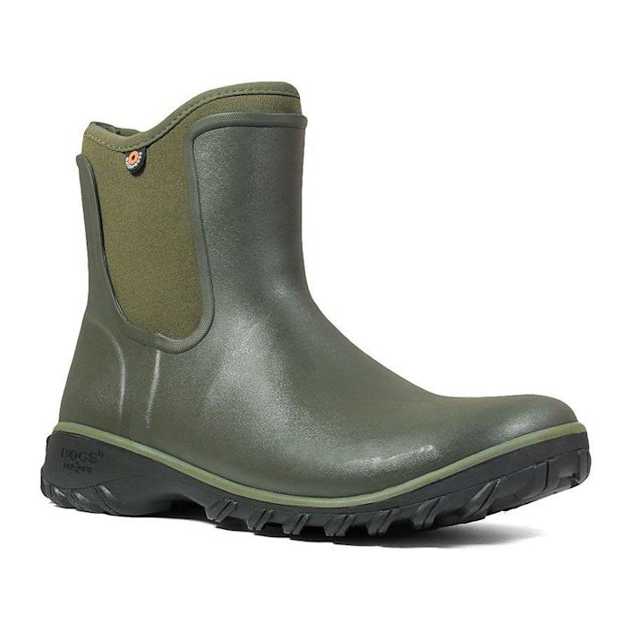 """<p><strong>bogs</strong></p><p>bogsfootwear.com</p><p><strong>$79.90</strong></p><p><a href=""""https://go.redirectingat.com?id=74968X1596630&url=https%3A%2F%2Fwww.bogsfootwear.com%2Fshop%2Fstyle%2F72203-306.html&sref=https%3A%2F%2Fwww.thepioneerwoman.com%2Ffashion-style%2Fg34010656%2Fbest-muck-boots-for-women%2F"""" rel=""""nofollow noopener"""" target=""""_blank"""" data-ylk=""""slk:Shop Now"""" class=""""link rapid-noclick-resp"""">Shop Now</a></p><p>These shorter-shaft boots are perfect for yard work on a spring day. Even the pretty green color makes them look garden-ready! </p>"""
