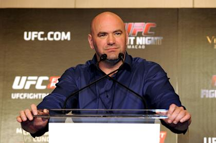 UFC president Dana White speaks at a news conference in Hong Kong. (Photo by Jayne Russell/Getty Images)
