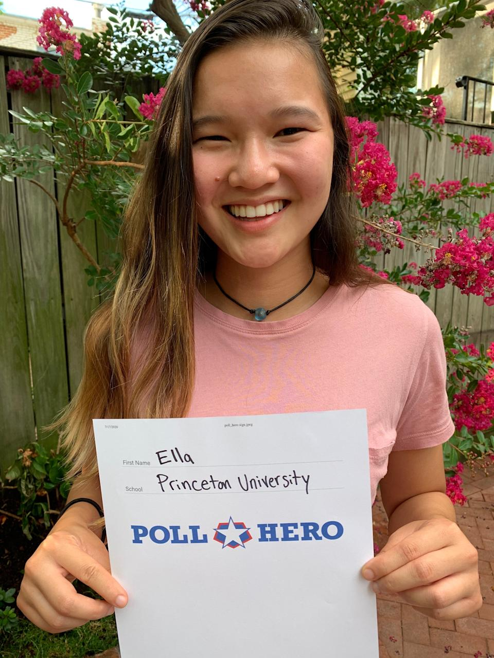 Poll Hero Project co-founded Ella Gantman has helped sign up thousands of young people to work polls during 2020 elections.Ella Gantman/The Poll Hero Project