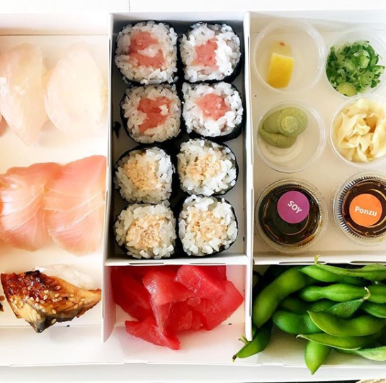 The actress is all about sushi and healthy treats. Photo: Instagram