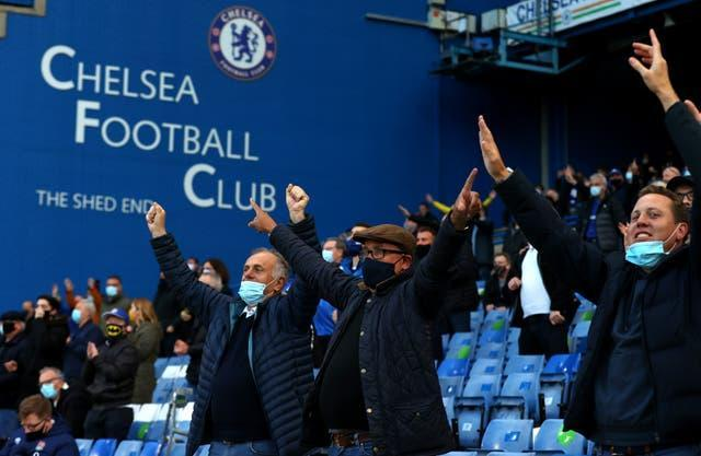 Chelsea fans were back in the stands and making their voices heard