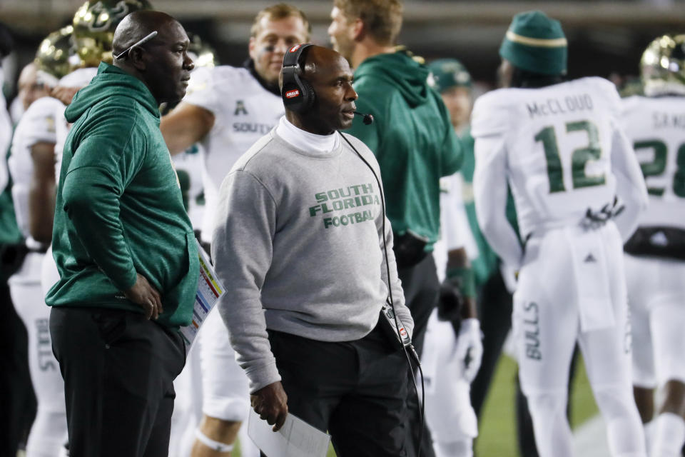 Charlie Strong's South Florida Bulls started off the season hot before trailing off and losing five straight. (AP)