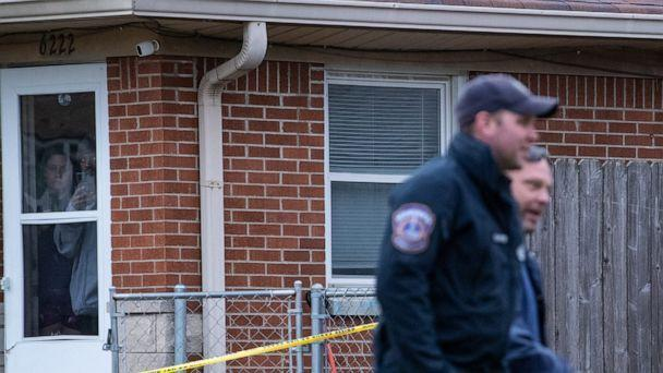 PHOTO: Following up on a lead in a quadruple homicide investigation, the Indianapolis Metropolitan Police Department searched a home in the 6200 block of Eastridge Dr.,on March 14, 2021, where they were able to locate a suspect, Malik Halfacre. (Mykal McEldowney/IndyStar via USA Images Network)